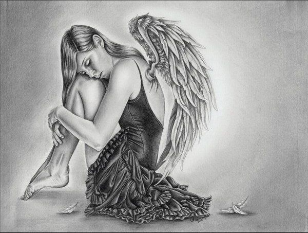 Pencil Drawings Of Angels