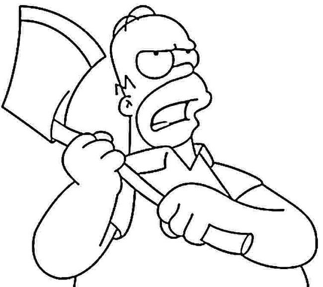Homer Simpson Coloring Pages
