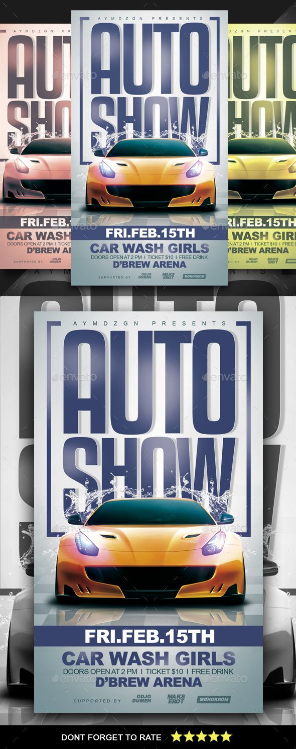 Auto Show Flyer  Flyer Template Template And Event Flyers