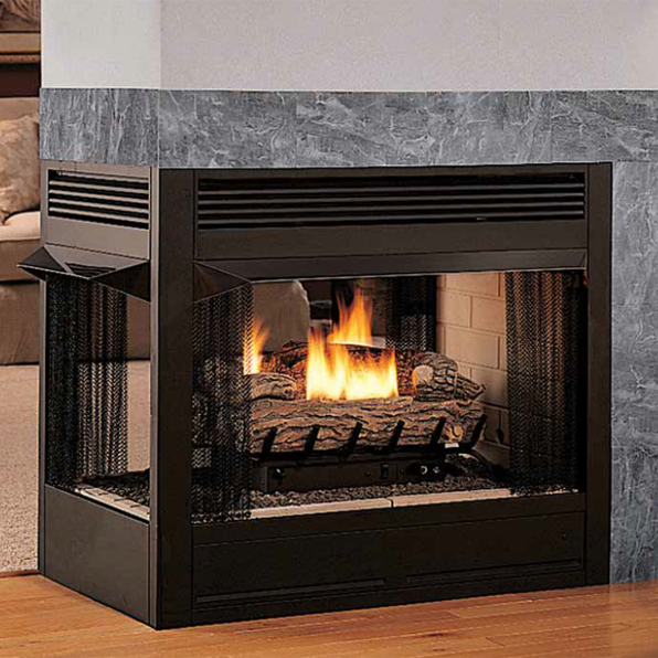 Superior 36 Inch Vent Free Multi Sided Gas Firebox Vrt Vct43 Vent Free Gas Fireplace Fireplace Gas Fireplace