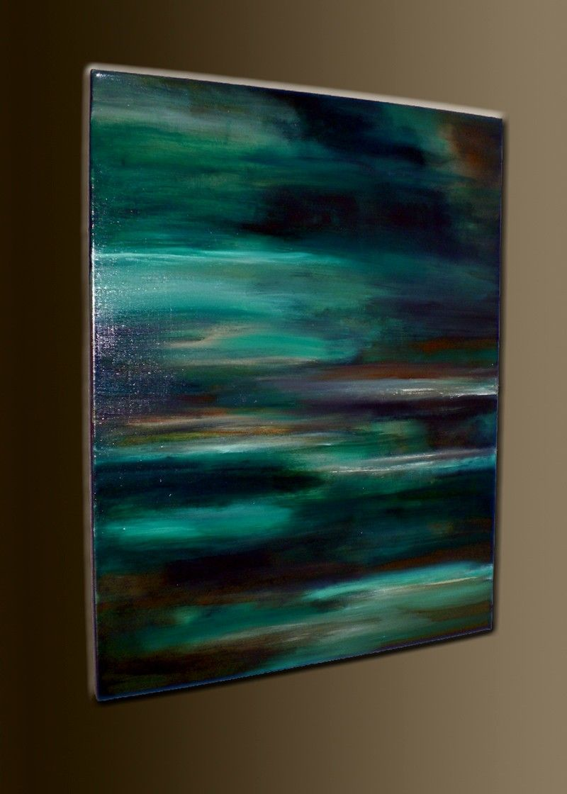 Tranquil Waters - 28 x 22 - Acrylic Abstract Painting - Textured