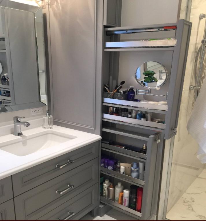 Small Bathroom Bathrooms Remodel, Pull Out Mirror Bathroom