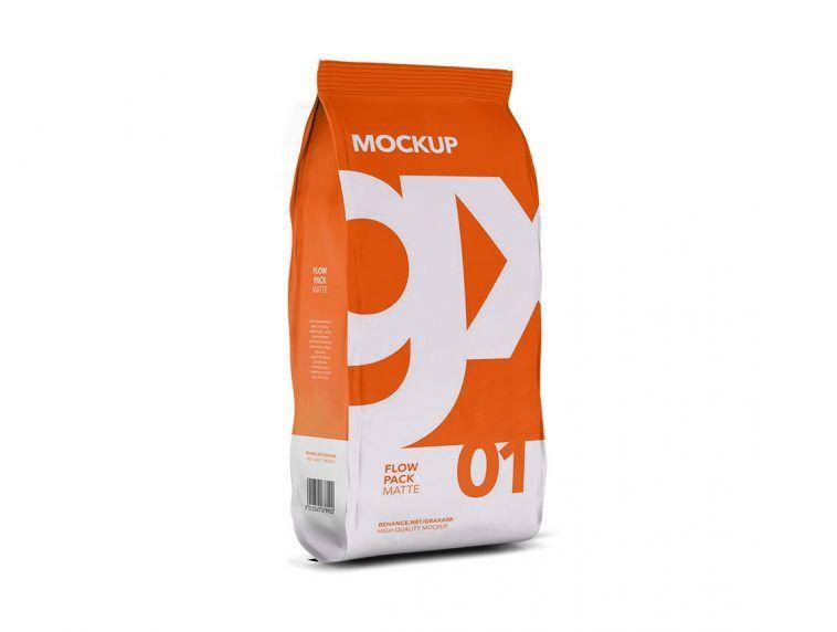 Download Free Flowpack Bag Packaging Mockup Free Package Mockups Packaging Mockup Bag Packaging Free Packaging Mockup