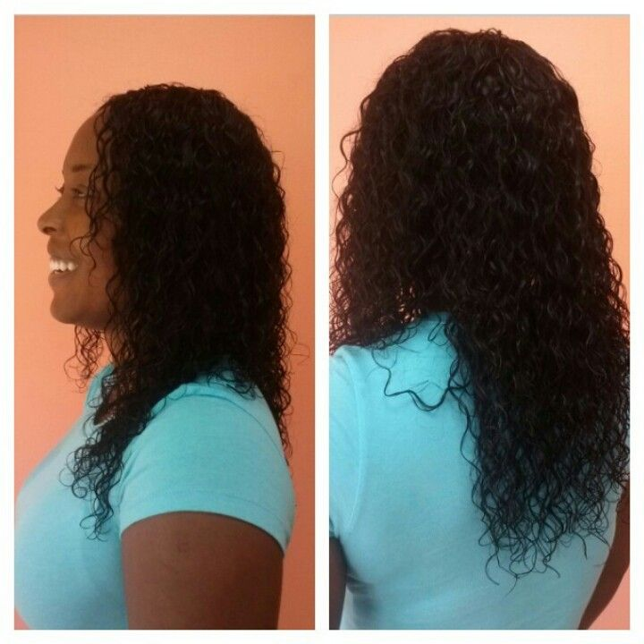 Full Wet Wavy Sew In With A Seamless V Closure Www Styleseat Com