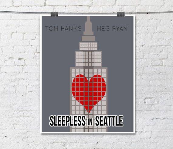Sleepless in Seattle Minimalist Movie Print  by TheBellaPrintShop, $15.00