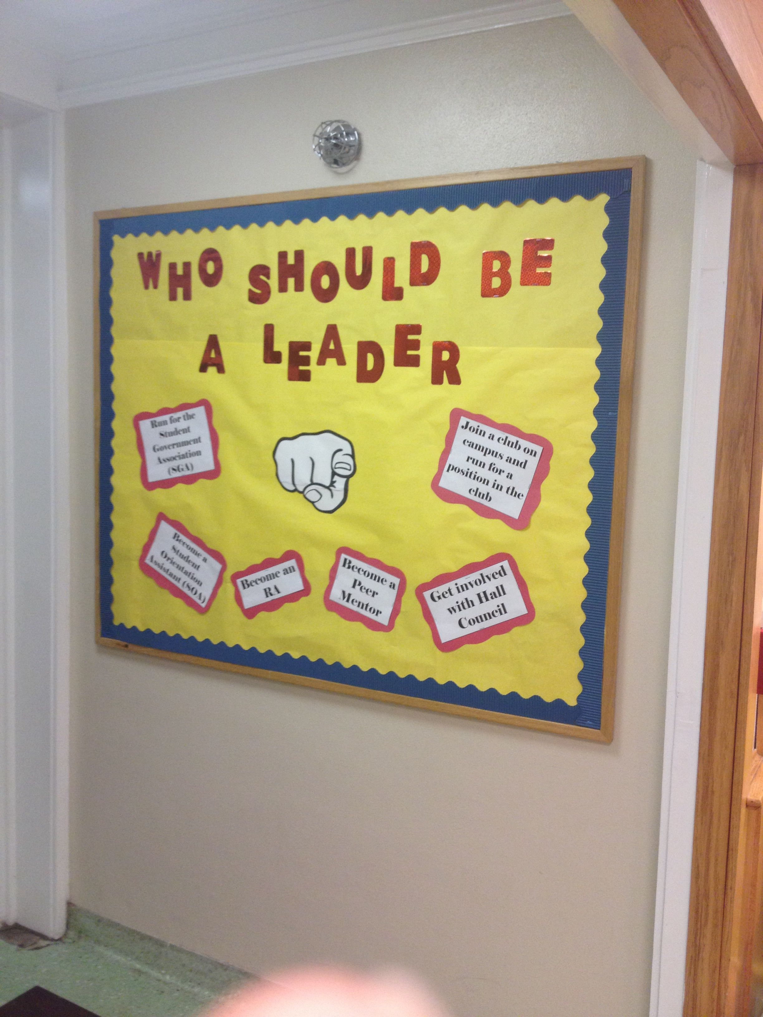 Leadership Bulletin Board #reslife #residentialassistant