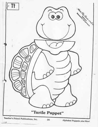 paper bag turtle craft pattern | clip art for everything | Pinterest
