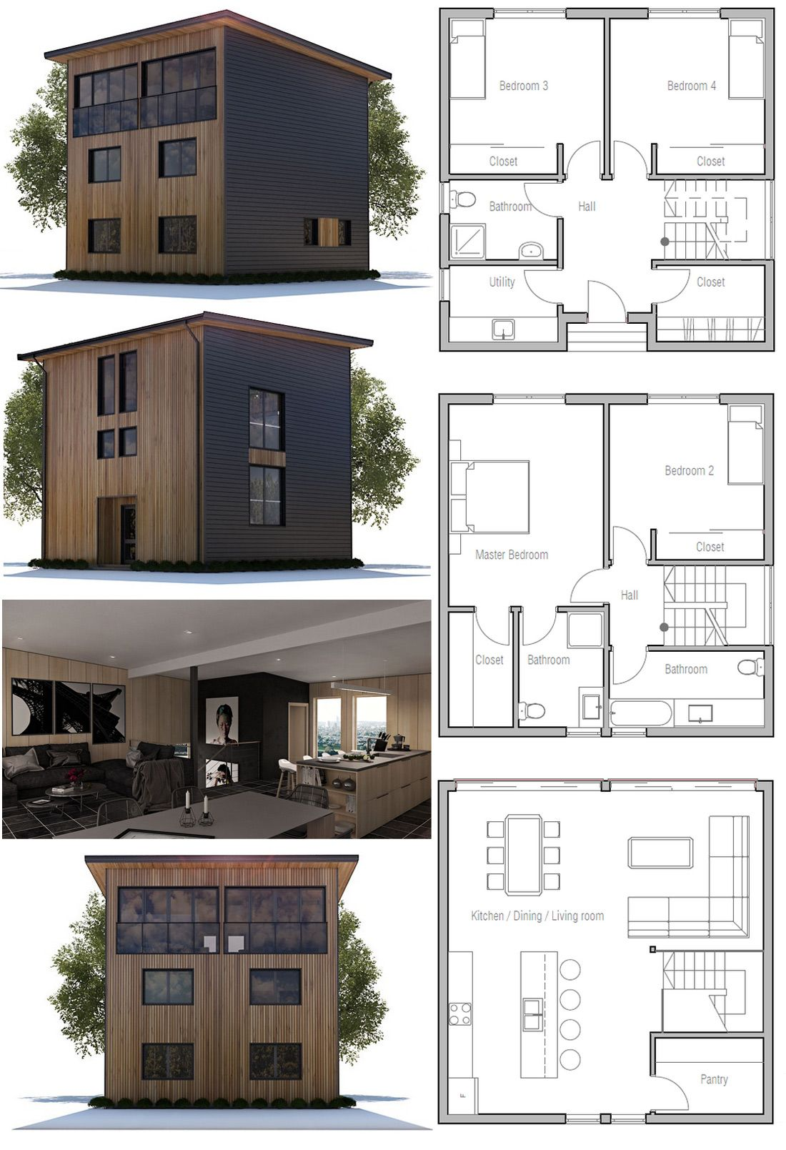 House Plan Ch345 Small House Architecture Modern House Plans Architecture House