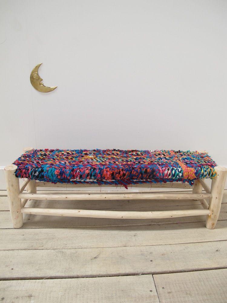 image de banc marocain boucherouite d coration bancs. Black Bedroom Furniture Sets. Home Design Ideas