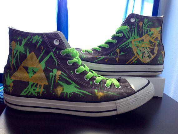 Custom Made Legend of Zelda (Graffiti Style) Converse