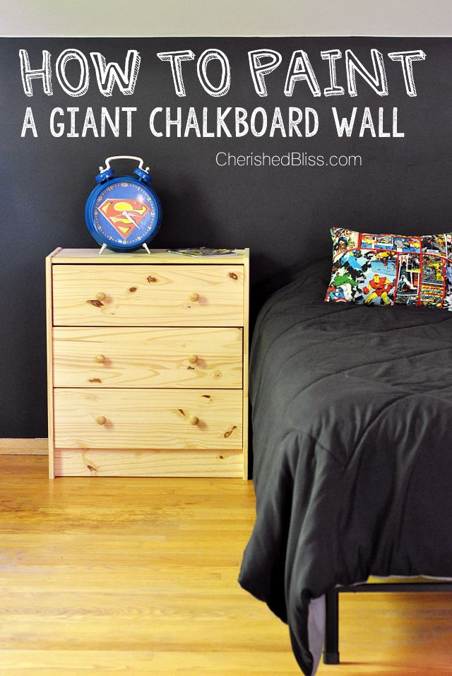 How to Paint a Chalkboard Wall | Chalkboard walls, Chalkboards and Bliss