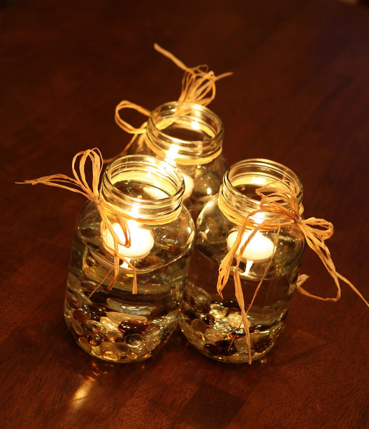 Rustic themed mason jar candles photo 4 pretty wedding rustic themed mason jar candles photo 4 pretty wedding centerpieces with mason jars and junglespirit Choice Image