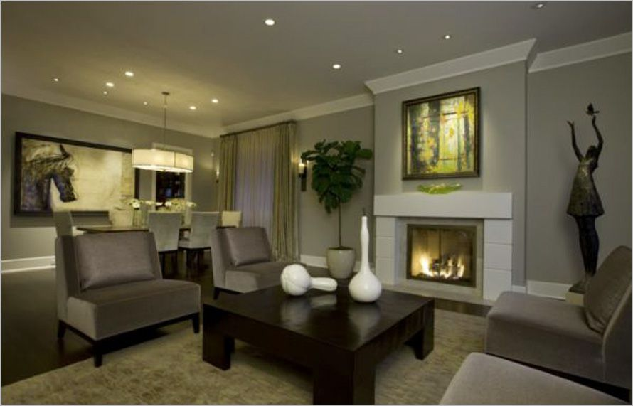 Honore Transitional Living Room Dining