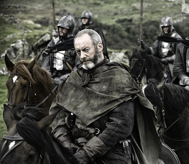 Davos Seaworth in Game of Thrones -  Davos is one of the more interesting, if understated new characters and being played by one of the great British character actors, Liam Cunnigham