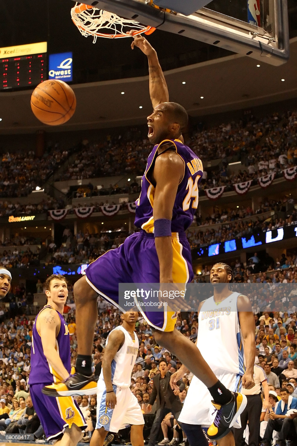 Kobe Bryant Of The Los Angeles Lakers Dunks The Ball In The Second In 2020 Kobe Bryant Kobe Bryant Black Mamba Kobe Bryant Pictures