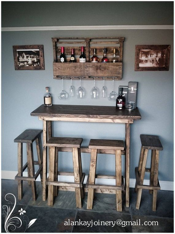 Remarkable Bespoke Lean To Wall Reclaimed Timber Rustic Breakfast Bar Lamtechconsult Wood Chair Design Ideas Lamtechconsultcom