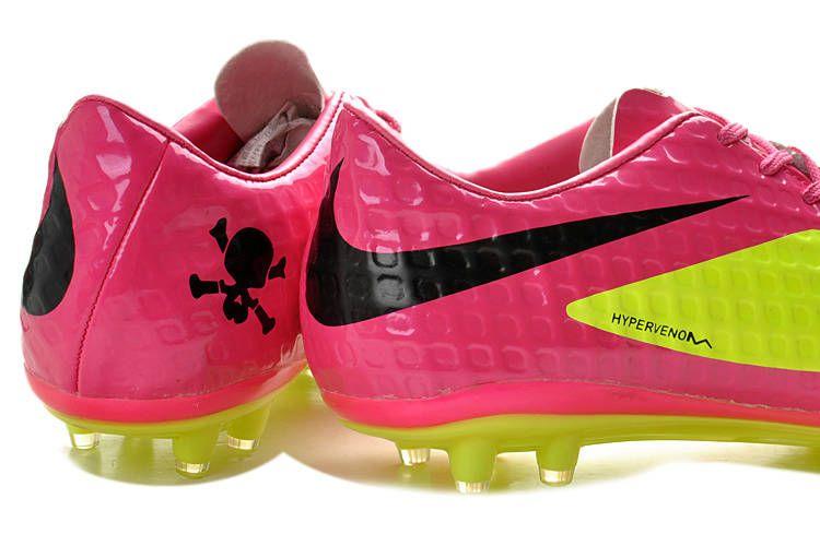fc6ed3267098 Nike HyperVenom Phantom FG Soccer Boots - Green Yellow Hot Pink Black