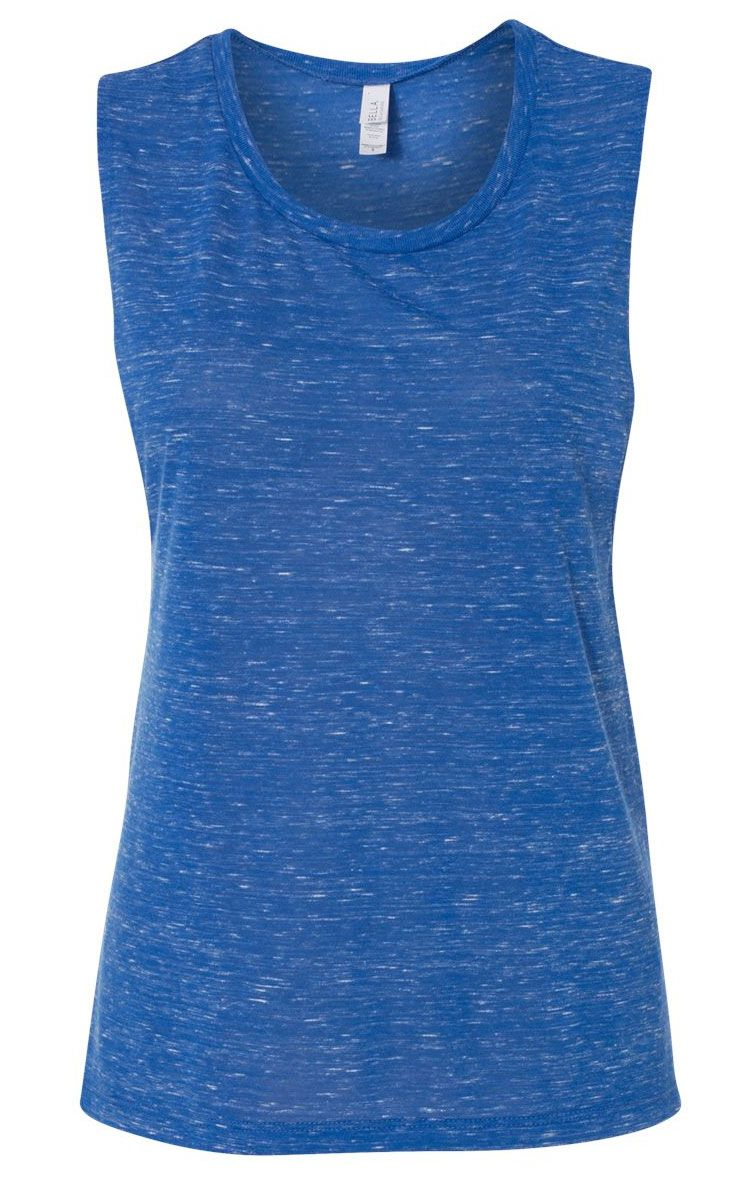 6a091b8b67 Bella + Canvas Womens Flowy Scoop Muscle Tank - add your design for as low  as $16.99 each or buy blank starting at $13.99!
