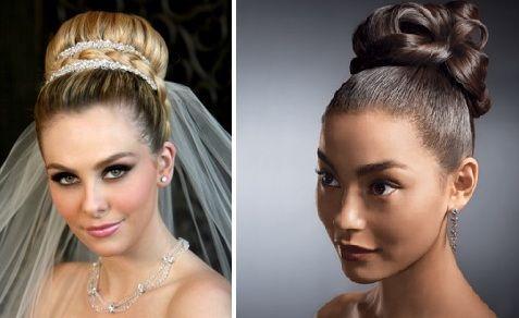 Peinados de novia altos con velo