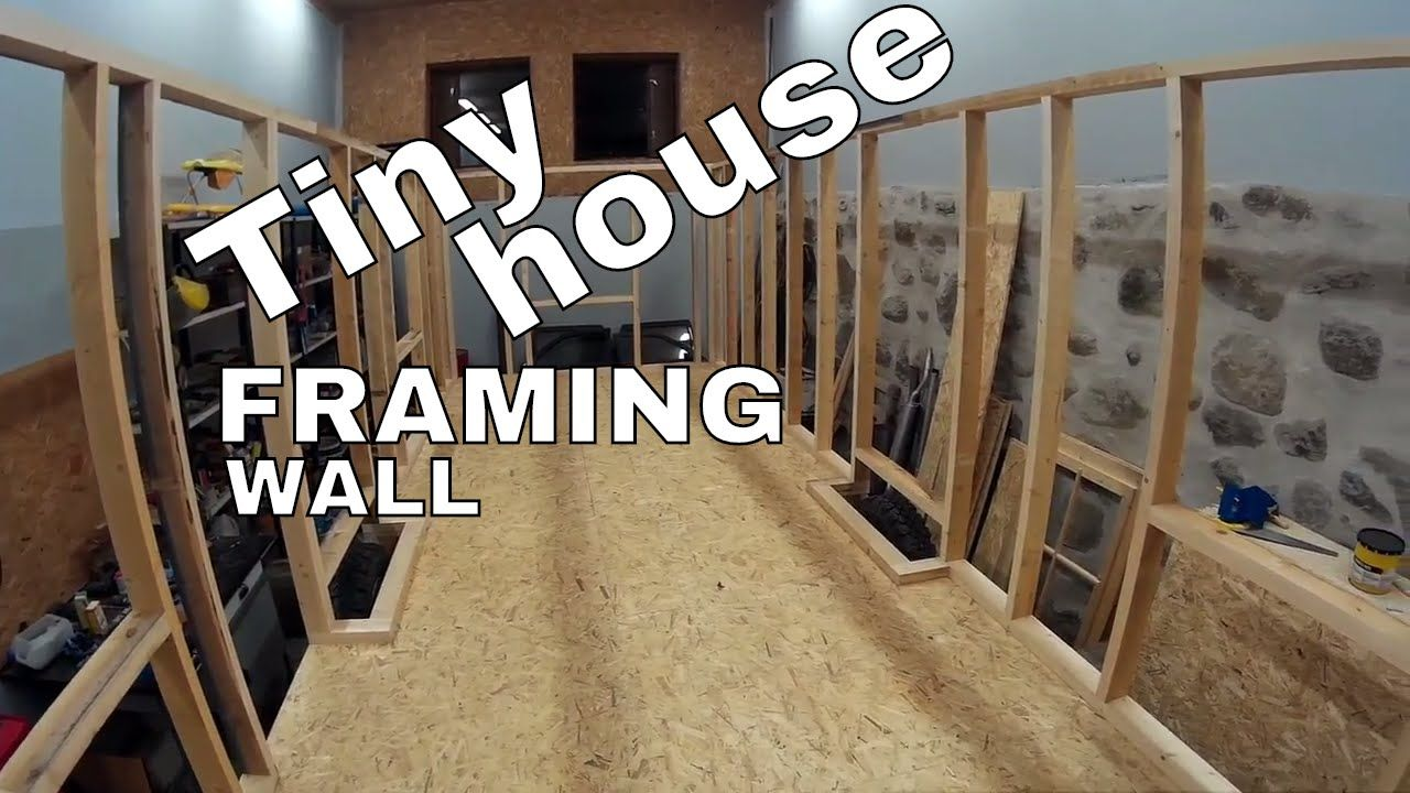 Tiny house on wheels part 13 - First floor wall framing