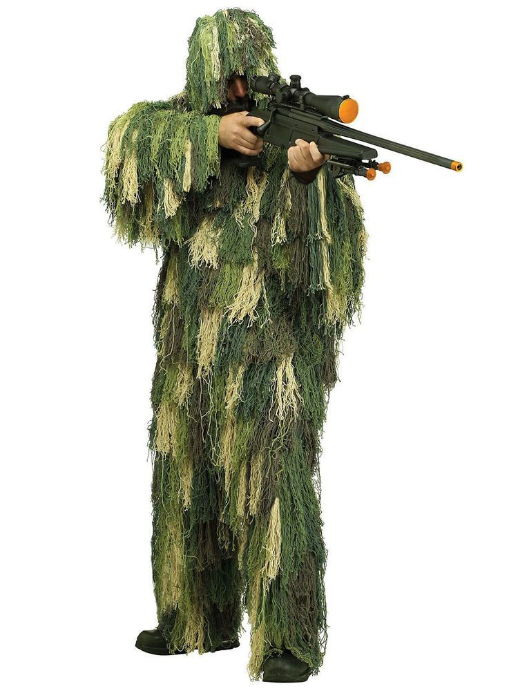 KIDS ARMY GHILLIE SUIT BOYS CAMO SNIPER DRESS UP COSTUME MILITARY HUNTING SUIT