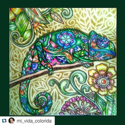Que maravilhoso! #Repost @mi_vida_colorida with @repostapp  ・・・  Gente, a gente inventa cada coisa. Achei que nunca ia acabar! #umreinodecores   #desenhoscolorir #coloringbook #livrodecolorir #jardimsecreto