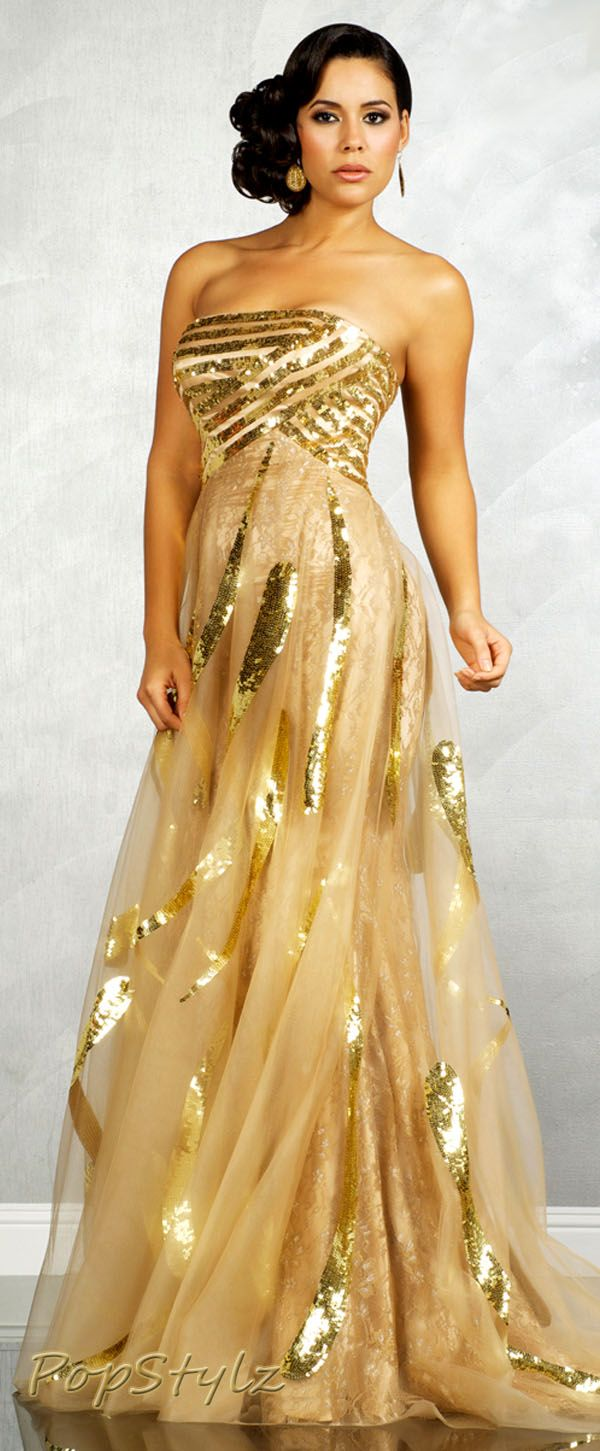 MNM Golden Couture Gown (bottom half is magnificent, add lighter ...