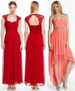 Vestido color coral para una boda