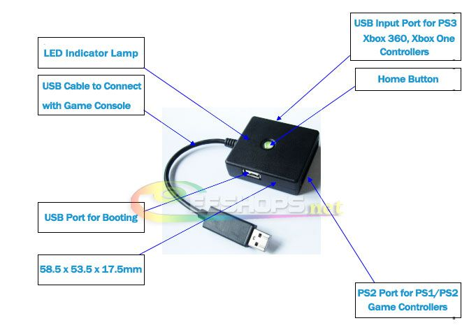 Ps2 controller diagram blank electrical work wiring diagram best new 5 in 1 wired controllers gamepad converter adapter adaptor rh pinterest com xbox 360 ccuart Choice Image