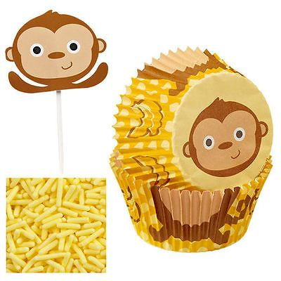 Wilton monkey cupcake decorating kit colourful children birthday