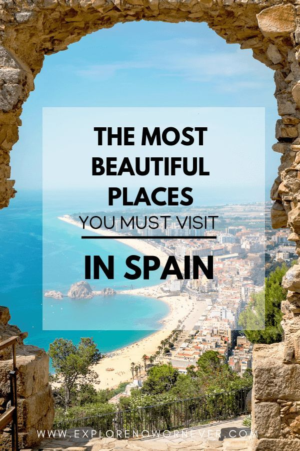 """Stunning spots in Southern Spain you must see! This is a detailed travel guide + map for two weeks in Andalusia…what to see and where to stay in Barcelona, Sevilla, Cordoba, Granada, Ronda and the gorgeous """"pueblo blancos"""" (white hill towns). Click here for the complete scoop. #Spaintravel #spaintravelplacestovisit #spainitinerary #spainitinerarytwoweeks #europetravel #andalucia #andaluciatravel #andaluciatravelguide #beautifulplacestotravel"""