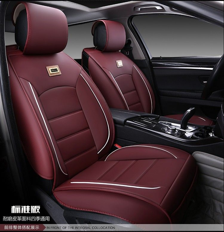 For Mitsubishi Pajero Lancer Galant Black Wear Resisting Waterproof Leather Car Seat Cover FrontRear Full Cushion Of Affiliate
