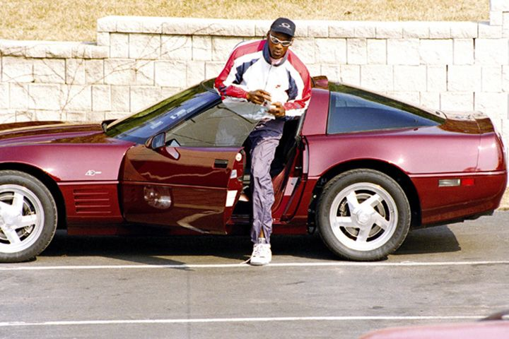 Michael Jordan's Chevrolet Corvette ZR1 40th Anniversary Edition. With 450 horsepower, only 448 of these ZR1s were built and only 220 had the special Anniversary Edition designation. You know MJ had to pick one up.