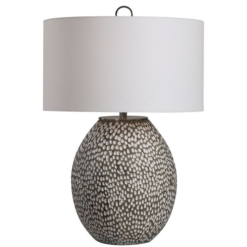 Uttermost Cyprien Gray White Table Lamp In 2021 Lamp Table Lamp Ceramic Table Lamps