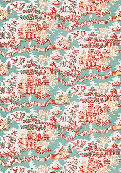 Gorgeous Fresh Chinoiserie Fabric From Thibaut This Is