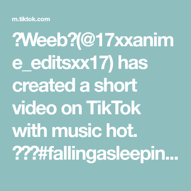 Weeb 17xxanime Editsxx17 Has Created A Short Video On Tiktok With Music Hot Fallingasleepinanime Simpping Anime Haikyu Haik Inga Haikyu Music