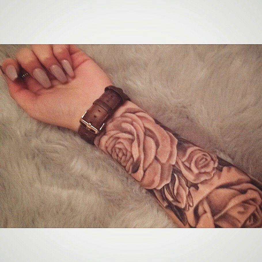 Forearm Rose tattoo