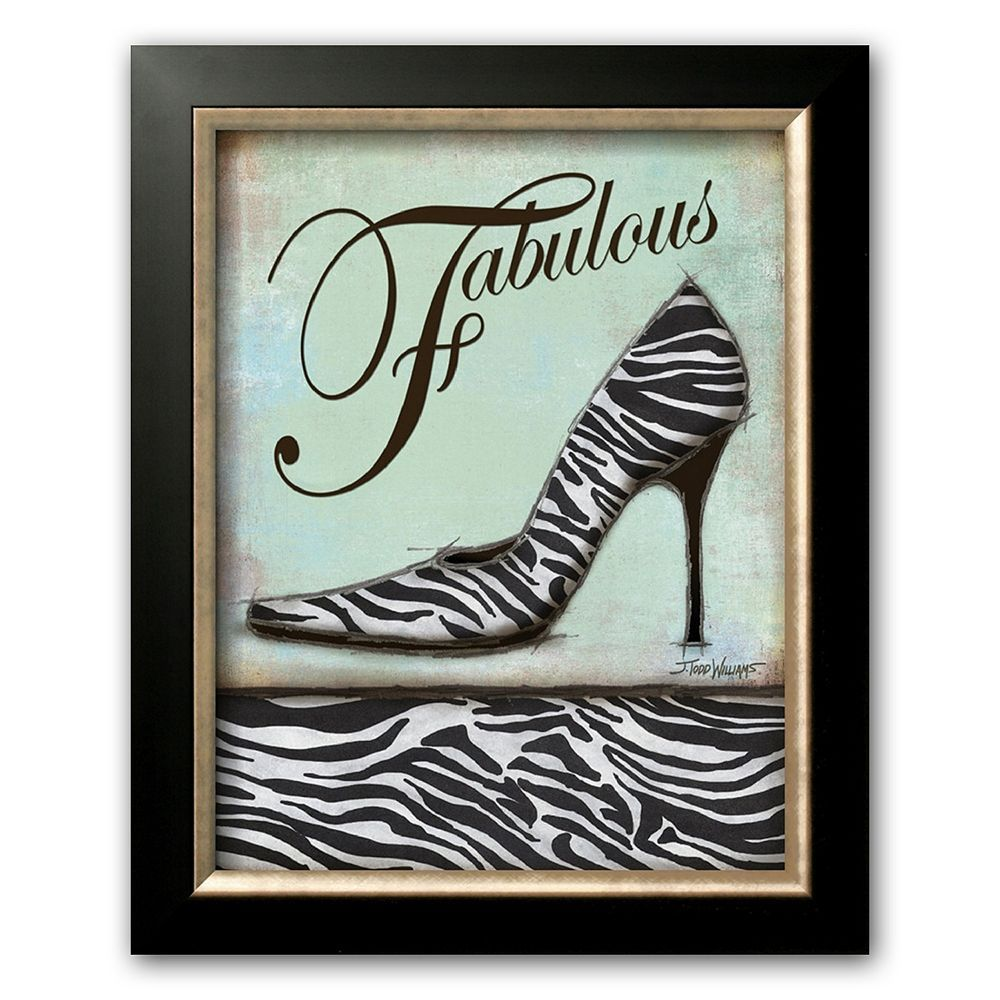 Art.com Zebra Shoe Framed Wall Art, Multicolor