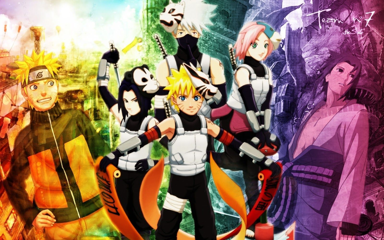 Team 7 Naruto Anbu Team 7 High Quality Wallpaper Images 1080p