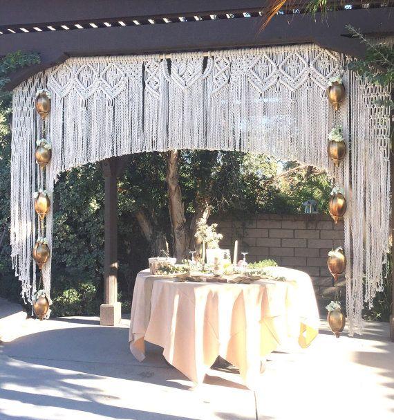 Macrame Wedding Backdrop Wedding arch Bohemian von ...