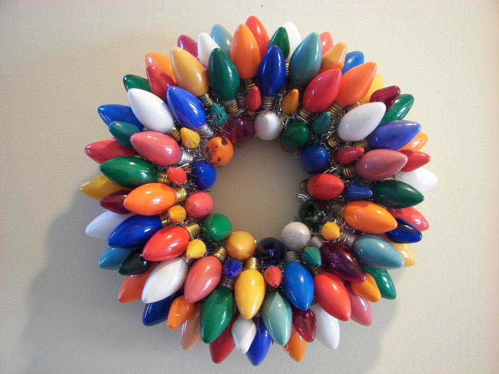 Another bulb wreath | Christmas | Pinterest | Bulbs, Wreaths and ...