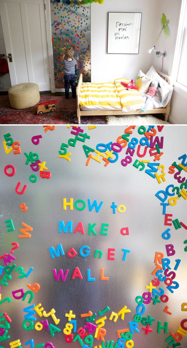 How To Make A Magnet Wall Nail Sheet Metal To The Wall