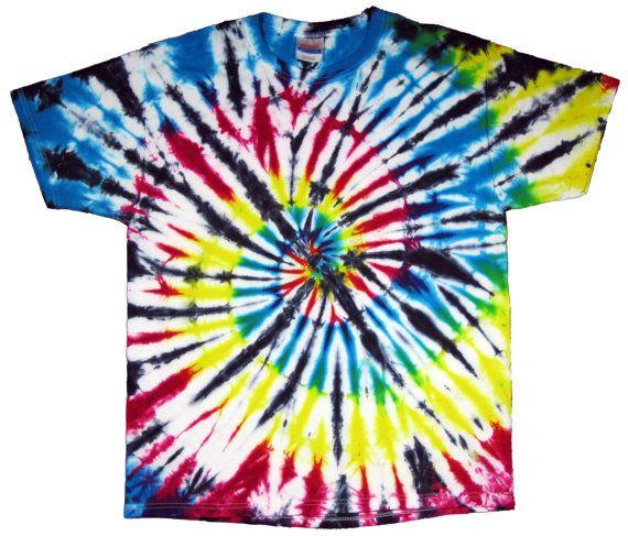 Tie Dye T-Shirt Multi-Color Short Sleeve S M L XL by PKsTieDyes