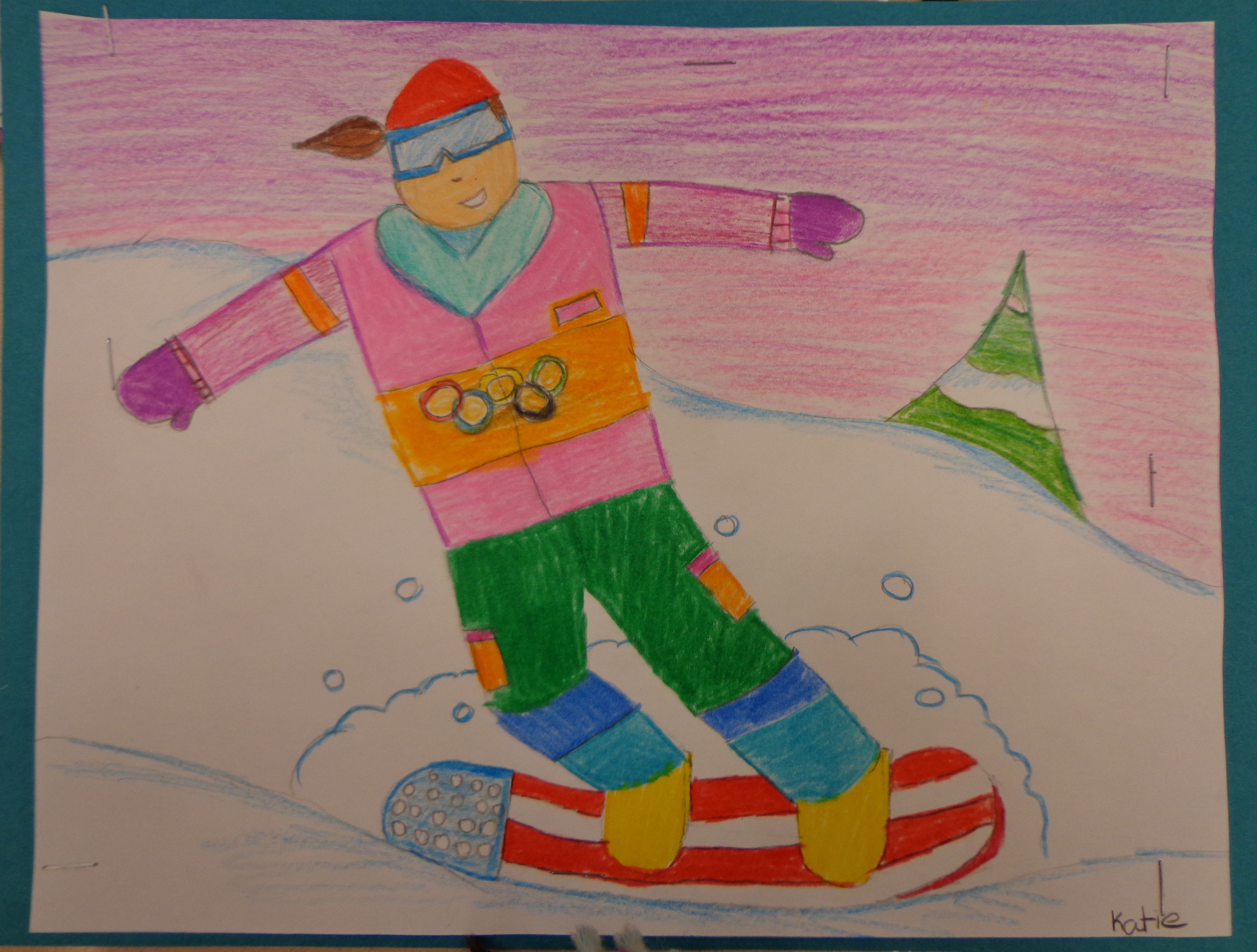 Olympic Snowboarder artwork done by one of our students in Illinois ...