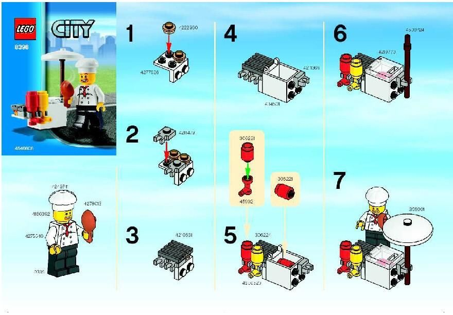 Lego Instructions Instructions For Lego 8398 Bbq Stand Legos
