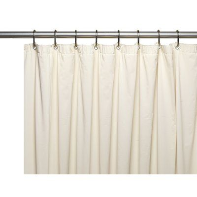 Symple Stuff Special Sized 10 Gauge Vinyl Shower Curtain Liner Size 84 H