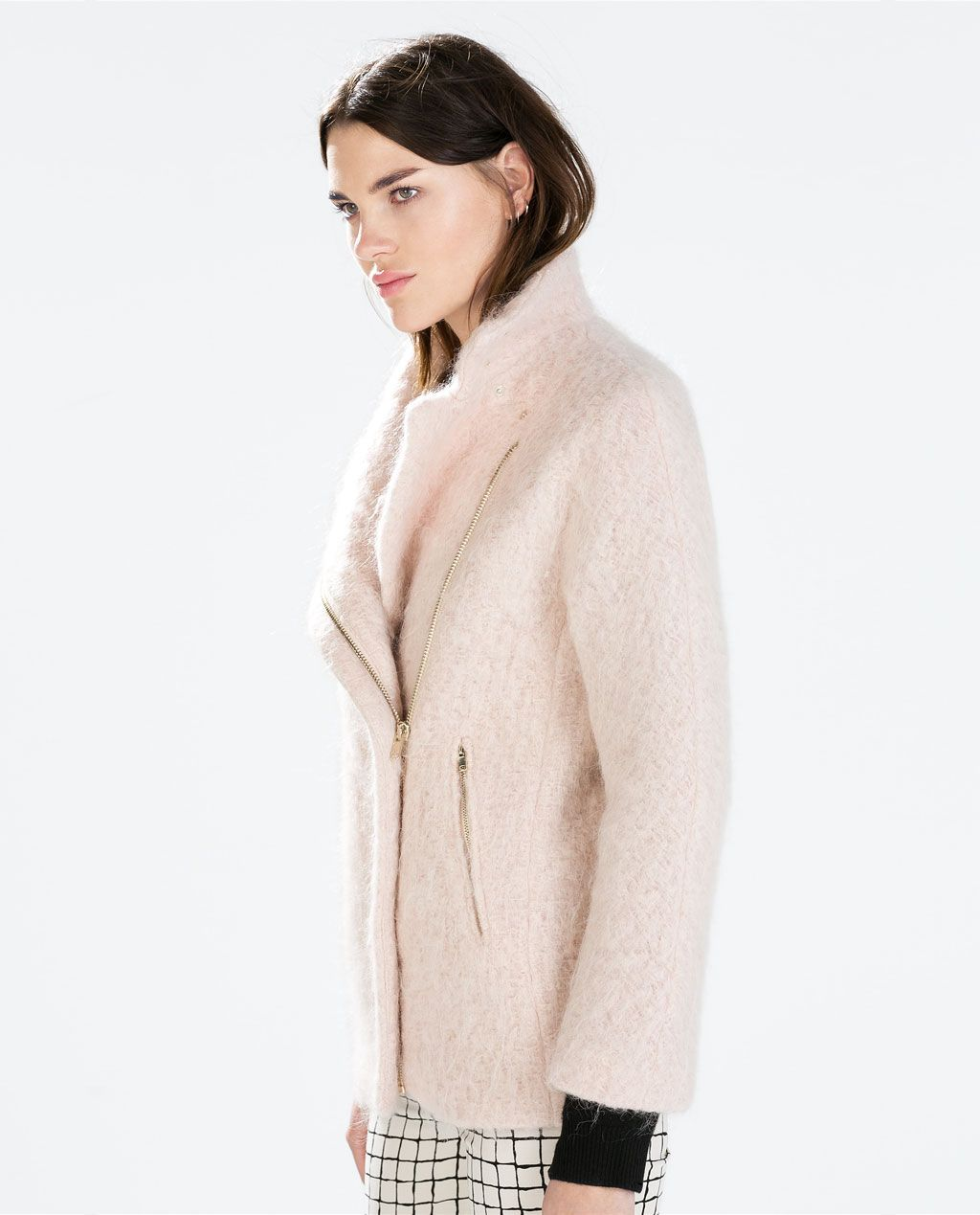 fd9b2681 COAT WITH FUNNEL COLLAR from #Zara REF. 8053/878 | My Style | Coat ...