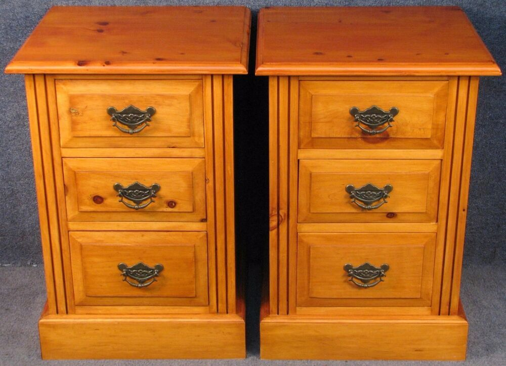 Pair Of Victorian Style Bedside Chests Bedside Chest Wooden