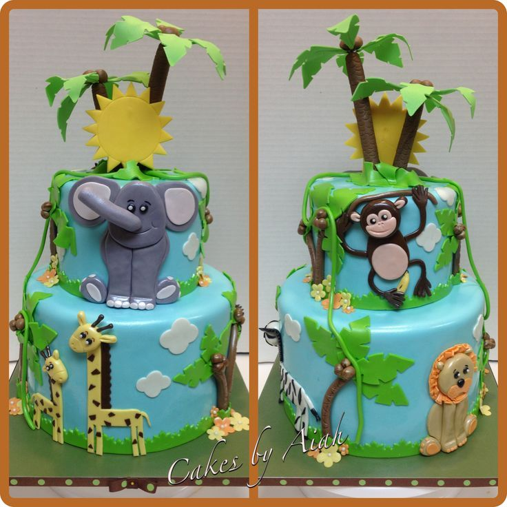 jungle baby shower cake  cakes by me     shower, Baby shower invitation