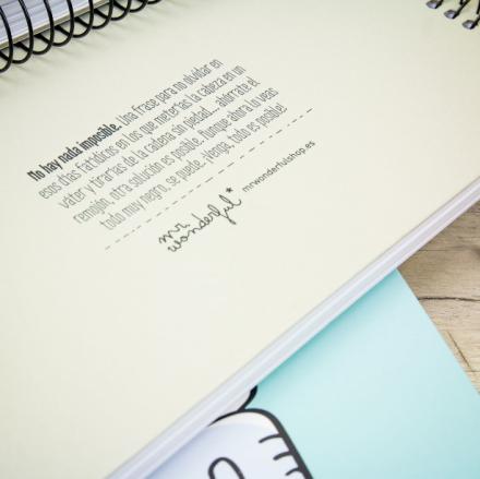 Libretas A4 Mr.Wonderful. Se vende en: www.mrwonderfulshop.es  #libreta #notebook #papeleria